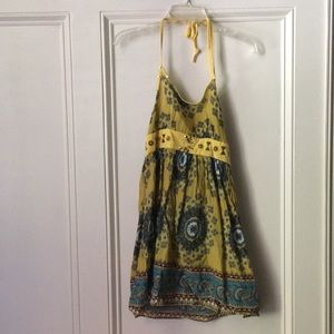 Vintage Paisley Yellow Sundress